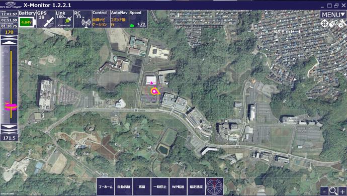 幕張基地局 画面(横須賀上空の機体情報)