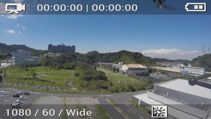 幕張基地局 画面(横須賀上空の映像)