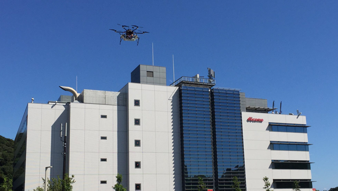 横須賀ドコモR&D センタ周辺を自律飛行するドローン