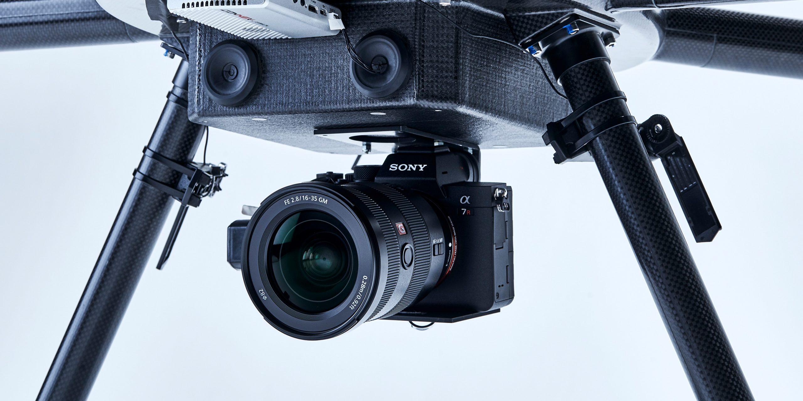 ドローンにとりつけたカメラ